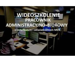 Szkolenie online Pracownik administracyjno - biurowy z zaświadczeniem MEN i certyfikatem